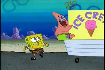 Spongebob Eating Ice Cream Gif